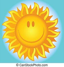 lato, uśmiechnięte słońce