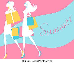 lato, zakupy