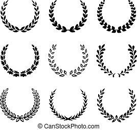 laur, wreaths., komplet, czarnoskóry, 2.