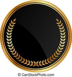 laurels, medal, złoty