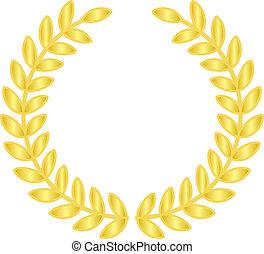 laurels, złoty
