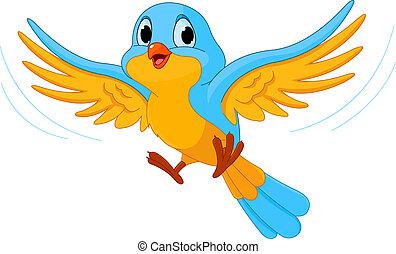 lecący ptaszek