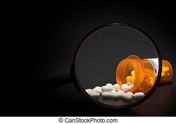 leczenie, recepta, powiększony