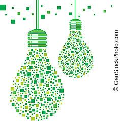 lekka bulwa, zielony, projektować