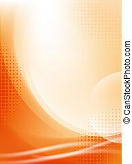 lekki, abstrakcyjny, halftone, tło, fałdzisty, pomarańcza