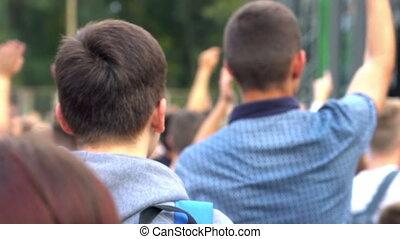 lekki, koncert, tłum