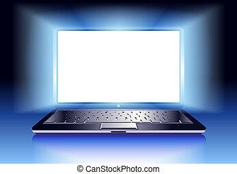 lekki, laptop komputer