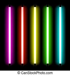 lekki, rura, neon