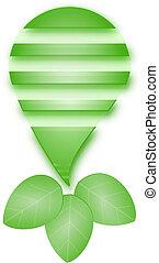lekki, wektor, zielony, bulwa