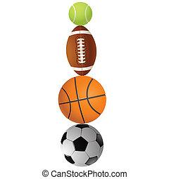 lekkoatletyka, ilustracja, wektor, balls.