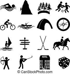 lekkoatletyka, komplet, wolny czas, ikony