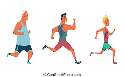 lekkoatletyka, race., trudny, uczestnicy, clothes., grupa, mężczyźni, wypadek, inny, atletyka, outrun, maraton, każdy, wyścigi, ludzie, ubrany