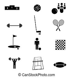 lekkoatletyka, wektor, ilustracja, ikona