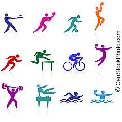 lekkoatletyka, zbiór, ikona