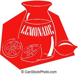 lemoniada, sztuka, zacisk