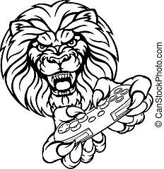 lew, bardziej gemowy, maskotka
