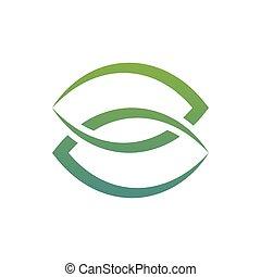 liść, etykiety, combined., sylwetka, 2, żagwie, logo
