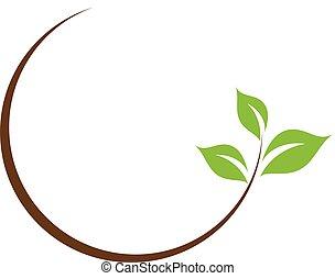 liść, logo, organiczny
