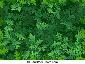 liście, dąb, seamless, struktura