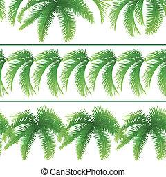 liście, dłoń, seamless, wzory
