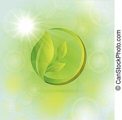 liście, natura, pojęcie, zdrowie