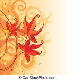 liście, tło