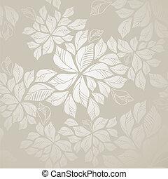liście, tapeta, seamless, srebro
