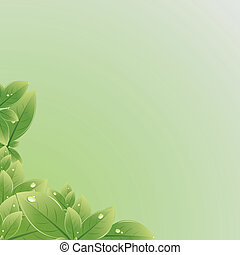 liście, wektor, zielony, texture., illustration.