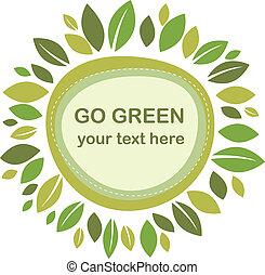 liście, zielony, ułożyć