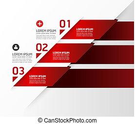 liczbowany, czuć się, graficzny, używany, układ, nowoczesny, kwestia, poziomy, /, website, chorągwie, wektor, projektować, może, szablon, infographics, cutout, albo