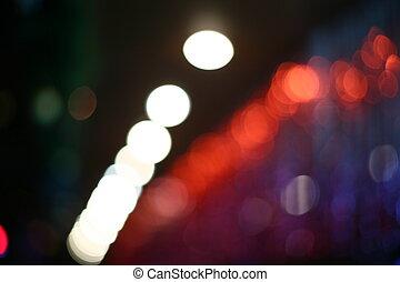 lights., zamazany