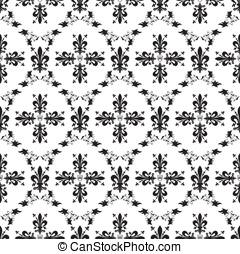 lilia, królewski, seamless, struktura, wiktoriański, wektor