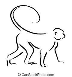 lina sztuka, małpa
