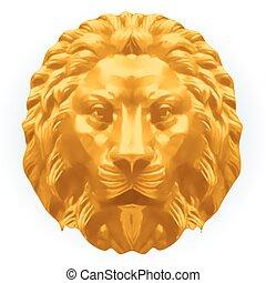 lion., wektor, srebro