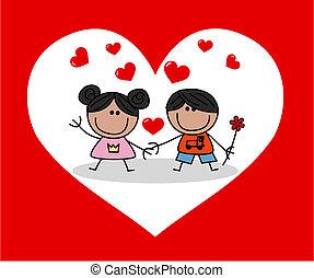 list miłosny, miłość, dzień, celebrowanie