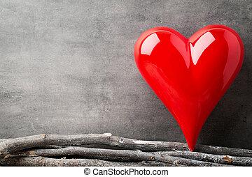 list miłosny, tło, hearts., dzień