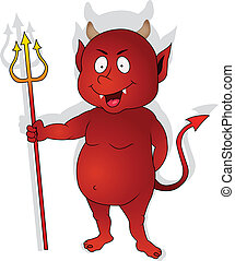 litera, czerwony, sprytny, diabeł