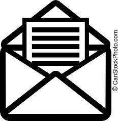 litera, ikona, otwarty