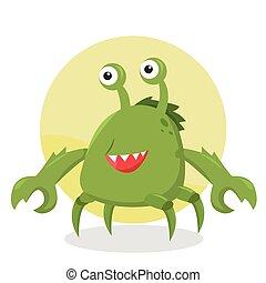 litera, potwór, krab