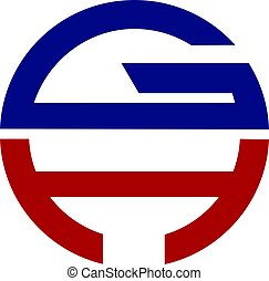 litera, projektować, logo, gh, nowoczesny