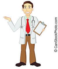 litera, rysunek, doktor