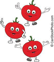 litera, rysunek, pomidor