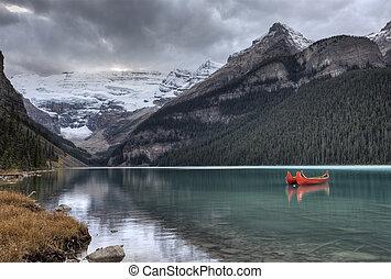 lodowiec, jezioro louise