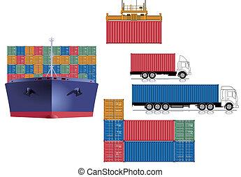 logisty, kontener, przewóz