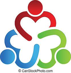 logo, 3, dzielenie, projektować, handlowy