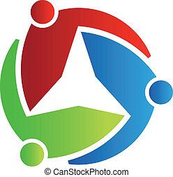 logo, 3, gwiazda, handlowy