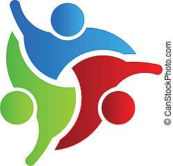logo, 3, projektować, handlowy, powitanie