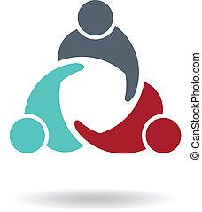 logo, 3, spotkanie, handlowy