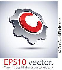 logo., 3d, handlowy, abstrakcyjny