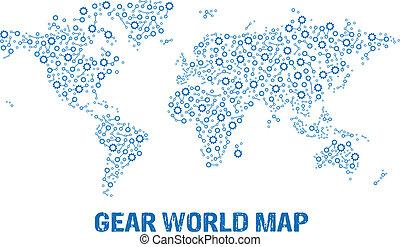 logo, abstrakcyjny, mapa, przybory, świat